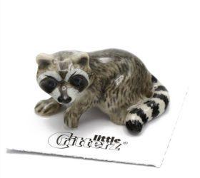 Bandit Raccoon Porcelain Miniature