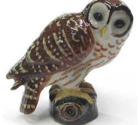 Barred Owl Roce Porcelain Figurine