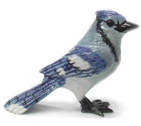 Bluejay Rose Porcelain Figurine