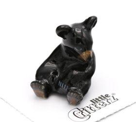 Honey Black Bear Cub Porcelain Miniature