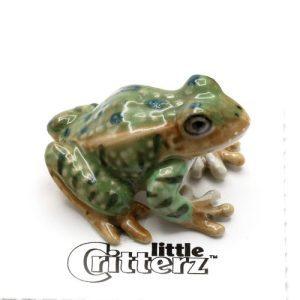Leopard Frog Porcelain Miniature