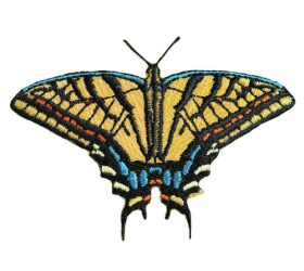 Swallowtail Butterfly Iron-on Patch